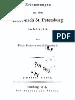 Erinnerungen von einer Reise nach St. Petersburg im Jahre 1814 von Ulrich Freiherrn von Schlippenbach. Zweiter Theil.