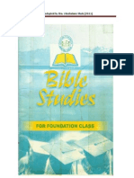 CCM - Bible Studies for Foundation Class