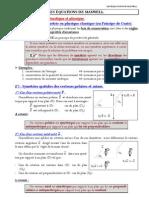 Les Equations de Maxwell Vide