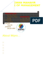 Business valuation of wipro