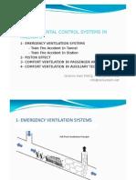 Ventilation System in Railways