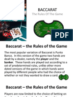 Baccarat - The Rules of the Game