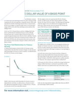 Calculating the Dollar Value of a Basis Point
