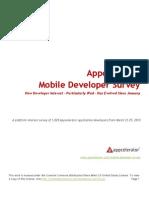 Mobile Developer Survey March 2010