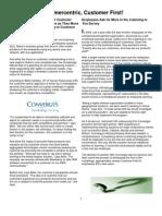 Customer Centric, Customer First_September_Newsletter