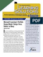 Microsoft Learning's Portfolio Design Model - Design Once, Deliver to Many