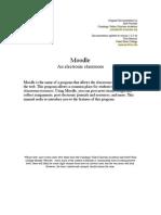 Teachers Manual - Moodle1.5