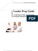 Leader Prep Guide - Prior You Start Training