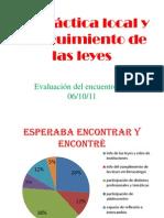 Presentación de La práctica local y el seguimiento de las leyes