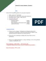 Assignment II- Service Marketing