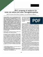 Screening newborns for hemoglobinopathies by HPLC