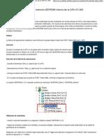 Guardar Datos Dentro de La Memoria EEPROM Interna de La CPU S7-200