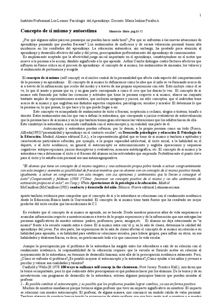 Concepto de sì Mismo y Autoestima d9da96a4656
