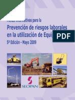 PREVENCIÓN DE RIESGOS LABORALES EN LA UTILIZACION DE EQUIPOS