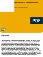 Selecting the Right SAP Business Objects BI Client Product for Your SAP Landscape