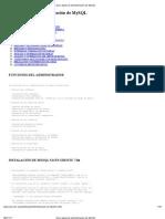 Guía rápida de administración de MySQL