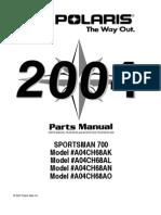Sportsman 700 Twin PARTS MANUAL PN 9918743