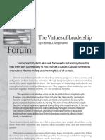 Sergiovanni Thomas - Virtues of Leadership