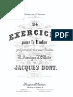IMSLP92401-PMLP185599-Dont - 24 Exercicces for Violin Prep Etudes Op37