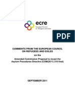 ECRE Comments Amended Recast Proposal APD - 27 September 2011