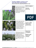 Alaska; Anchorage Native Plant Seeds Available for 2009 Rain Gardens