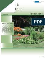 Alaska; Planting a Rain Garden for Your Home