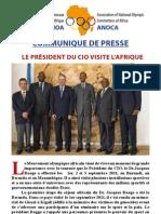 communiqué de presse le Président du CIO visite l'Afrique