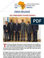 IOC President Tours Africa