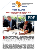 Press Release ANOCA Officialises Partnership With