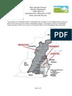 Maryland; Rain Garden Project Klinken Residence - City of Davidsonville