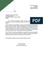 Carta de Renuncia, Presidenta CEAPU