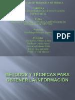 métodos y técnicas para obtener la información
