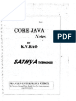 CORE  JAVA   BY  KV RAO