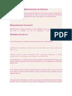 3.- Mantenimiento Correctivo de Software