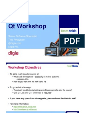 Qt Workshop | Android (Operating System) | Software Development