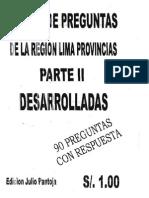 Banco Preguntas II Cultura Regional 2011