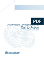 Aid Effectiveness  - UNDG Call to Action