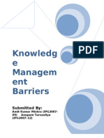 Knowledge Management Barrrier Report Final