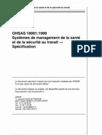 REG1999 OHSAS18001 spécifications _afnor