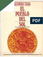Alfonso Caso.-el Pueblo Del Sol