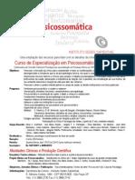 Curso de Especialização em Psicossomática Psicanalítica 2012