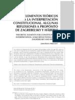 Elementos teóricos para la interpretación constitucional.