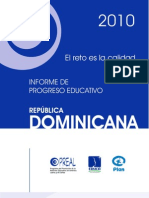 Informe de Progreso Educativo 2010- Republica a