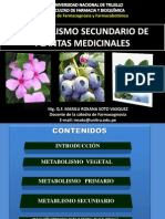 Metabolismo Secundario por Q.F. Marilú Roxana Soto Vásquez