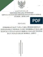 Keputusan Menteri Negara Investasi