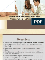 Manpower Planning for Acme Corporation – A Case
