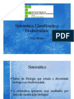 Sistemtica Classificaao e Biodiversidade