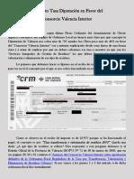 Concepto Tasa Diputacion en favor del Consorcio Valencia Interior