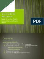 Isotermas de adsorción