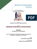 Tarea 3. Disposición en componentes simétricas de la matriz de impedancias y admitasncias en derivación